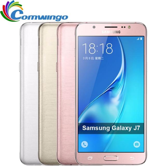 "Original Samsung Galaxy J7 J7108 (2016) Dual SIM LTE Cellphone Octa-core 5.5"" inch 16GB ROM 3GB RAM   FDD/TDD LTE Smartphone"