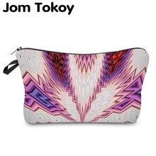 Jom Tokoy Waterproof Cosmetic Organizer Bag Makeup bag Printing Graffiti Fashion Women Multifunction Beauty