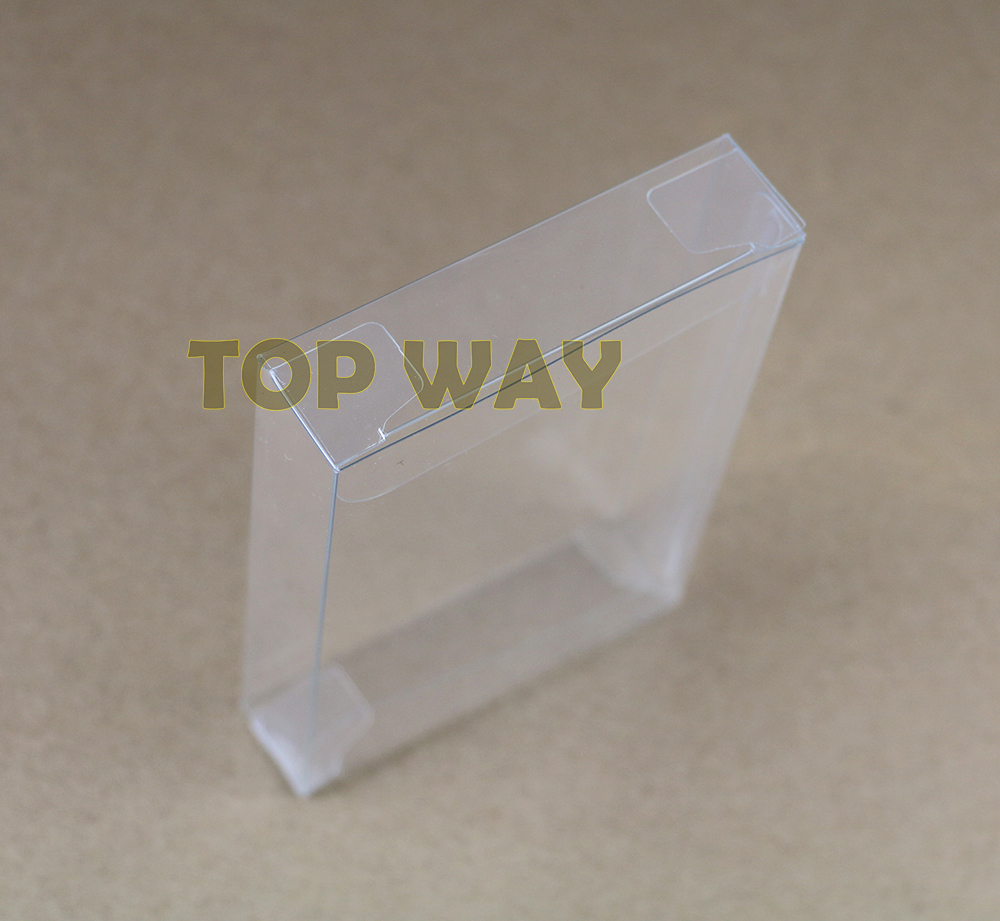 2pcs/lot Clear transparent for <font><b>Gameboy</b></font> Advanve <font><b>Color</b></font> <font><b>Game</b></font> Cartridge box Protector Case CIB <font><b>games</b></font> plastic PET for N64 image