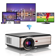 LED Android WiFi Bluetooth Projector Home Cinema Mobile Beamer Support Full HD Video for S