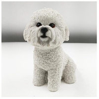 High quality resin bichon frise dog figure,car styling home room decoration,love poodle decorative article Christmas gift toy