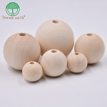 8/10/12/14/16/18/20mm espaçador de madeira grânulo cor natural contas de madeira eco-friendly diy jóias fazendo artesanal