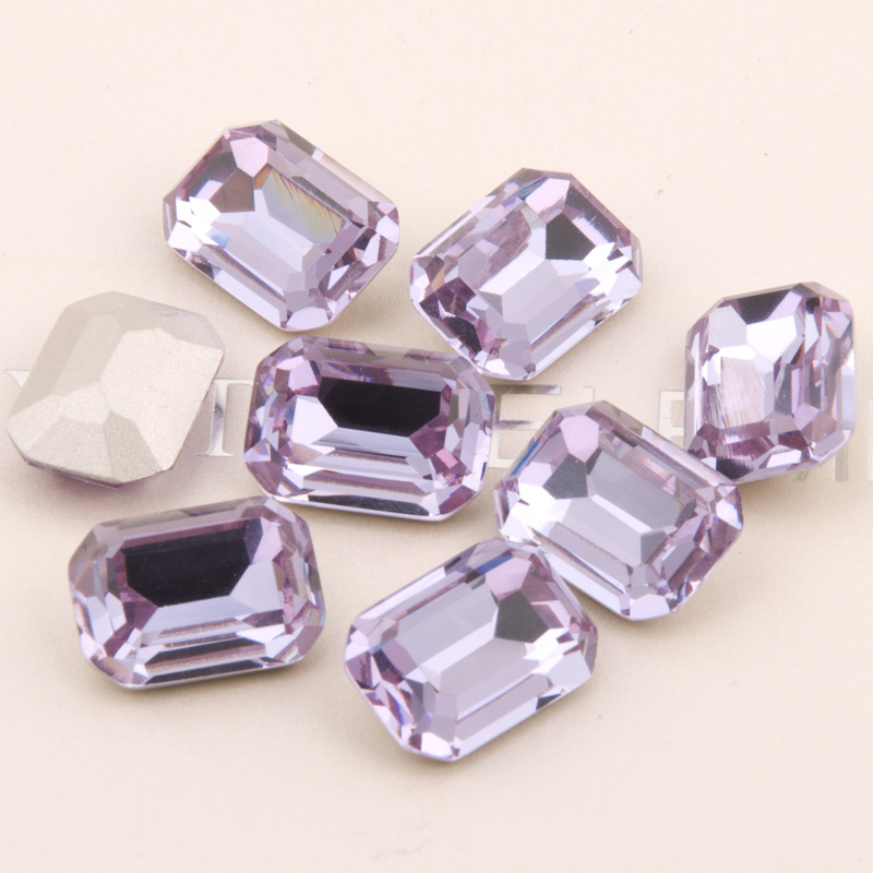 2f45f3b6c559 YANRUO  4610 All Sizes Violet Octagon Pointback Setting Crystal Rhinestone  Sew On Strass Glass Stones For Garment-in Rhinestones from Home   Garden on  ...