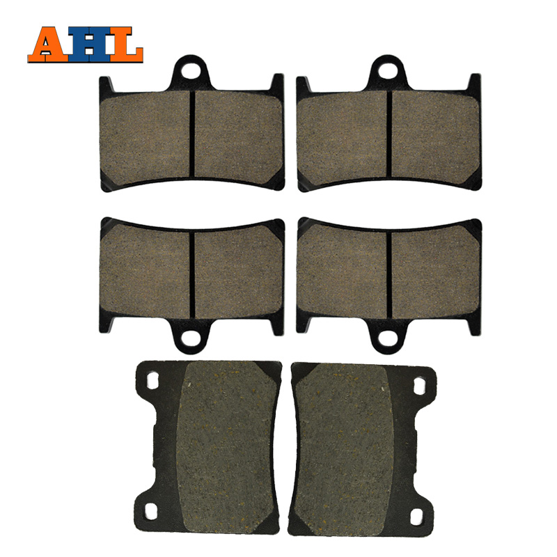 AHL Motorcycle Front and Rear Brake Pads For YAMAHA YZF 600 R YZF600R YZF 1000 R 1997-2007 Black Brake Disc Pad motorcycle front and rear brake pads for yamaha fzr 400 a fzr400a 1990 brake disc pad