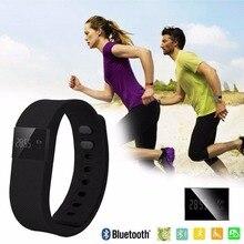 Бесплатная доставка Отображает количество сожженных калорий сна монитор напоминание Расстояние трекер smartbracelet часы