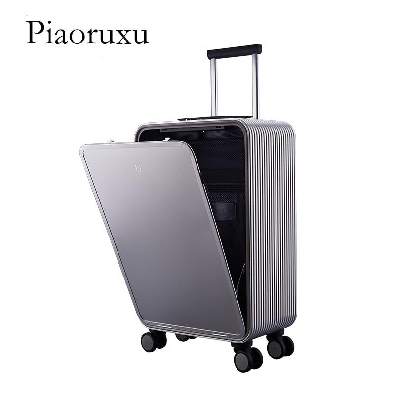 Smart Luggage 100 Aluminum Alloy Carry Ons Rolling Luggage Suitcase Intelligent Fingerprint TSA Unlock Black 16