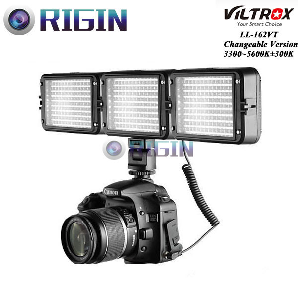 ФОТО Viltrox LL-162VT LED 3200K~5600K Color temperature adjustment Camera Video Shoe Mount Light Panel + 2 Color Filters