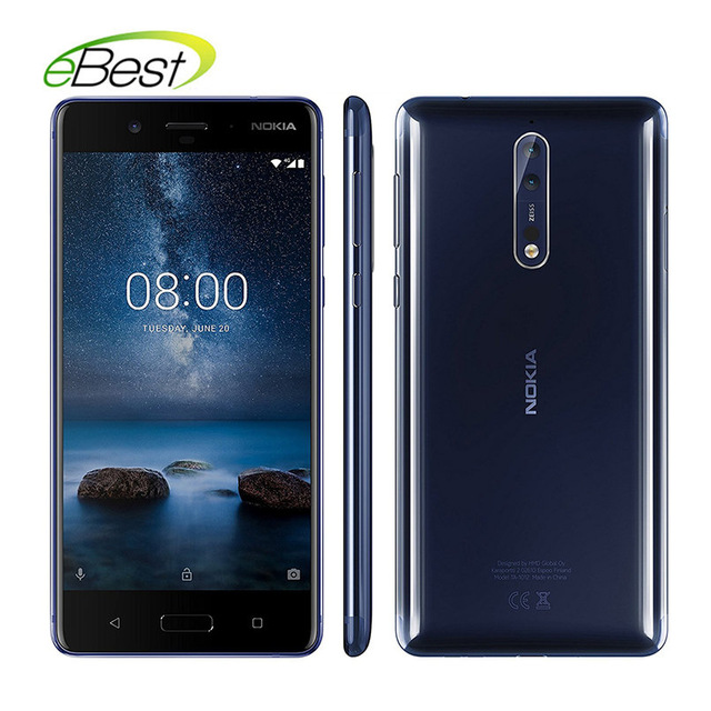 Global Version Nokia 8 5.3'' FHD Mobile phone 3090mAh Otca core Android Cellphone Dual Real cameras 13.0 MP 6GB 128GB Smartphone