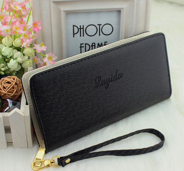 Hot Fashion nine Colors PU Leather Long Wallets Women Wallets Portable Casual Lady Cash Purse Card Holder Gift 2016 hot fashion women wallets double zipper bag solid pu leather men long coin purse brand clutch lady cash hold phone card