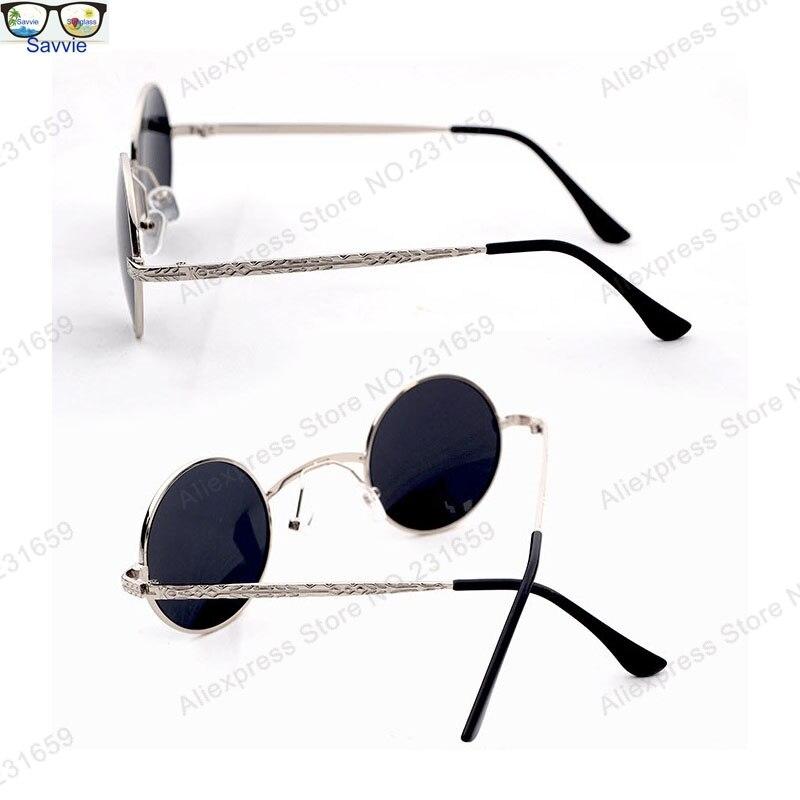 e6c1e0c7977d8 Retro Victorian VAMPIRE Goth Steampunk Small Round Metal Men Sunglasses  Unusual EYEBALL w  Extra Wide Bridge-in Sunglasses from Apparel Accessories  on ...
