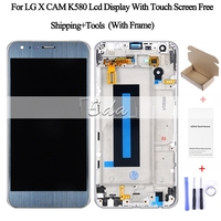 Catteny For LG 5.2 K580 Display Screen For LG X Cam K580 New LCD Touch Screen Digitizer Assembly With Frame 10pcs Wholesale DHL