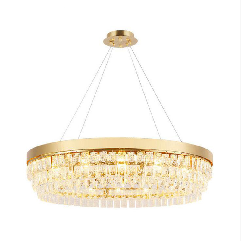 Postmodern minimalist crystal chandelier Lightweight extravagant chandelier Living room bedroom Study room Hotel room LED lamps