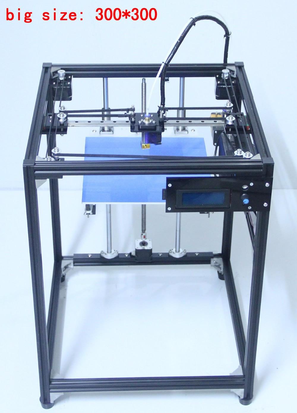 printer 3D 2017 big size 300*300 3D Printer Machine Ramps 1.4 plus black corexy Full Kit 3d printer kit flsun 3d printer big pulley kossel 3d printer with one roll filament sd card fast shipping