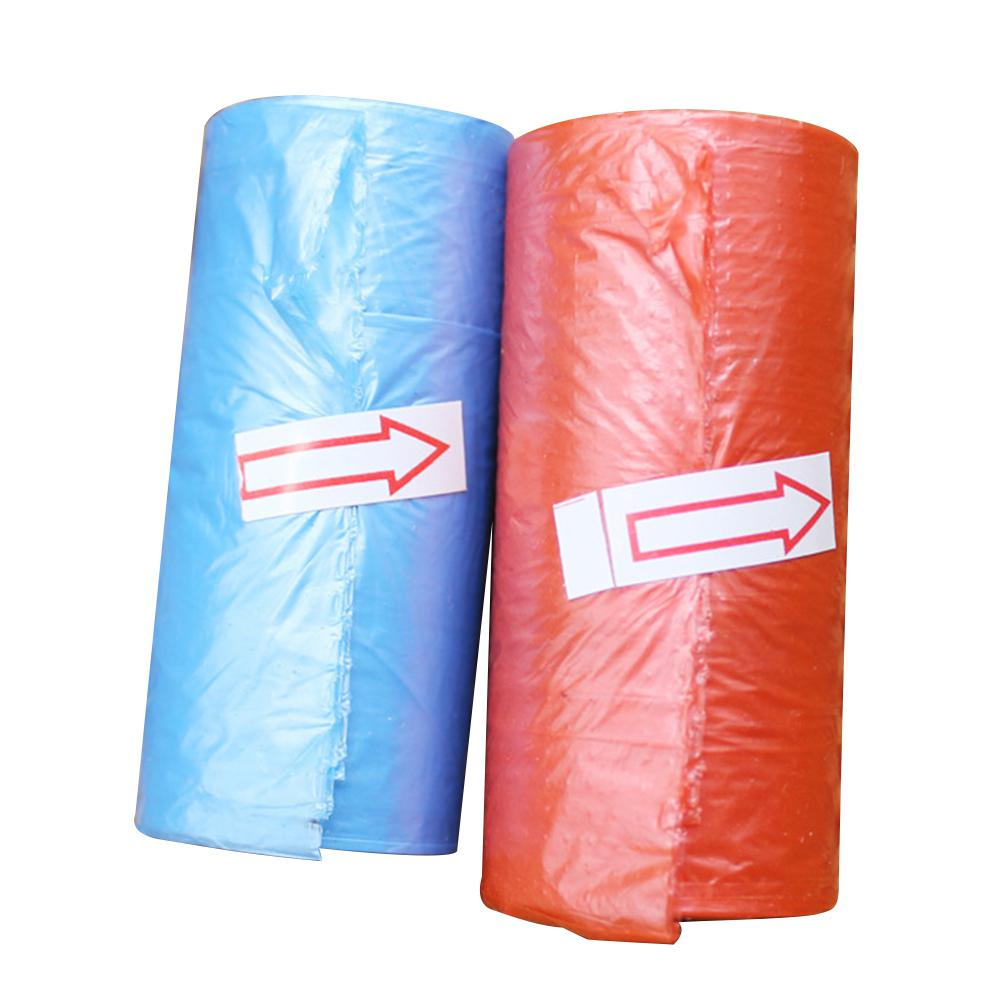 15pcs/Roll Disposable Drawing Type Automatically Disconnects Garbage Bag Portable Baby Diapers Rubbish Bags No Case