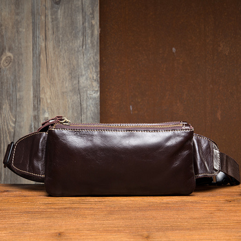High Quality Genuine Leather Men Waist Pack Casual Bum Hip Bag Belt Phone Bag Case Fanny Pack For Women Men Travel Waist Bag