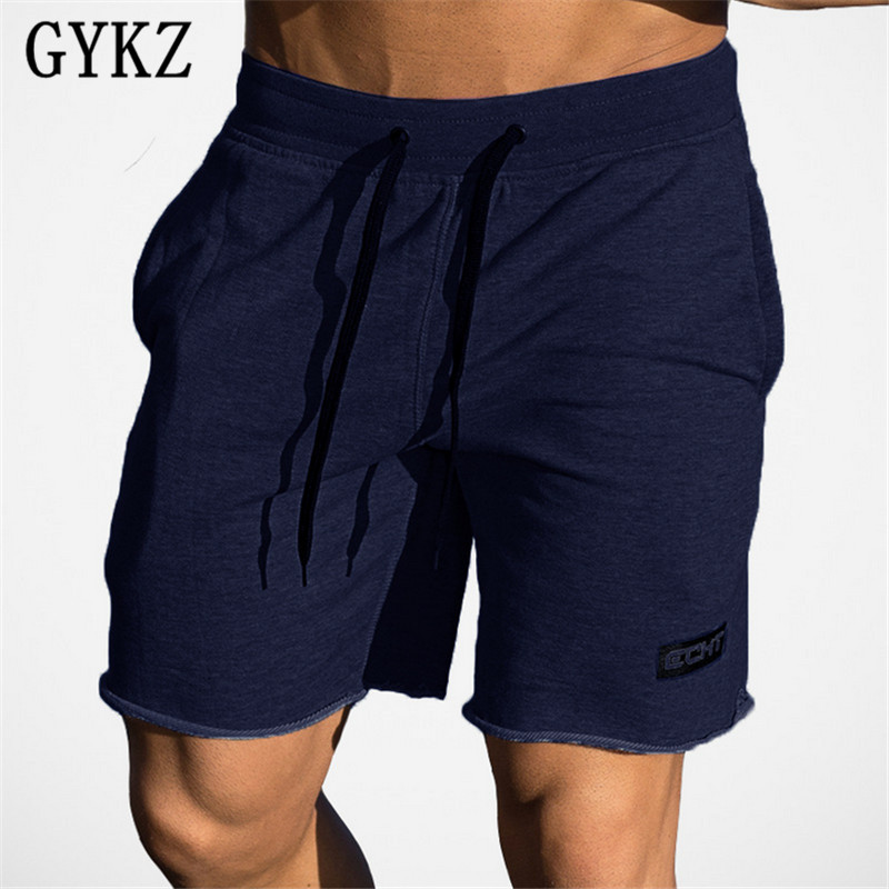 GYKZ New Gyms Sporting Shorts Men Bermuda Men's Short Homme 3 Color Casual Brand Clothing Letter Elastic Waist Gyms Shorts
