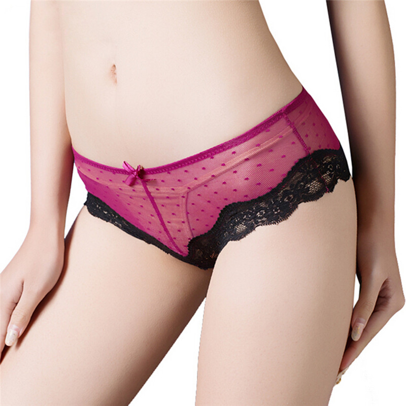 1 PC women's G-string Knickers Lingerie Sexy Lace Panties Low Waist Cotton Briefs Underwear Thongs