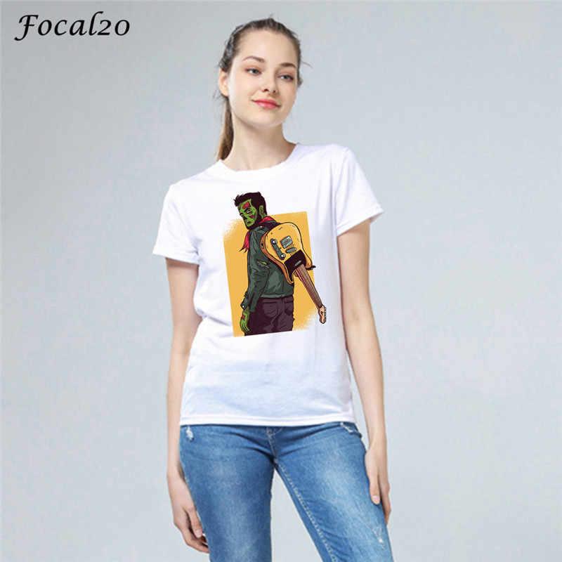 Focal20 原宿プリント女性 Tシャツトップ Tシャツクルーネック半袖夏春スリム女性 Tシャツ Tシャツ