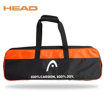 Szef badminton torba przenośna rakieta tenisowa torba torebka sportowe plecak akcesoria sportowe Tenis dla 3 rakieta o dużej pojemności tanie i dobre opinie HEAD Sport z rakietą