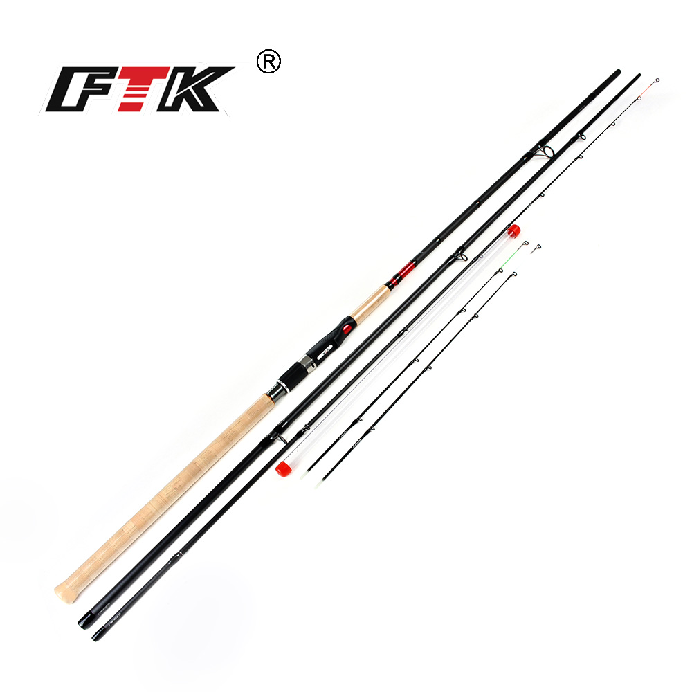 FTK Brand High Carbon Feeder Fishing Rod 2-3 Sections C.W. 15-40g and 40-90g Carp Fishing Rod Suoer Power Casting Fishing Rod ftk 99% high carbon feeder fishing rod c w 15 40g 2sec 40 90g 3sec carp rod superhard fishing rod