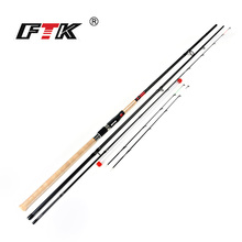 цена на FTK Brand High Carbon Feeder Fishing Rod 2-3 Sections C.W. 15-40g and 40-90g Carp Fishing Rod Suoer Power Casting Fishing Rod