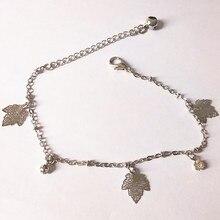 NewAnkle Bracelet Sandals Jewelry Leg Chaine Leaves Of Maple Trees Crystal Design Foot Cheville Pulseras Tobilleras Tornozeleira