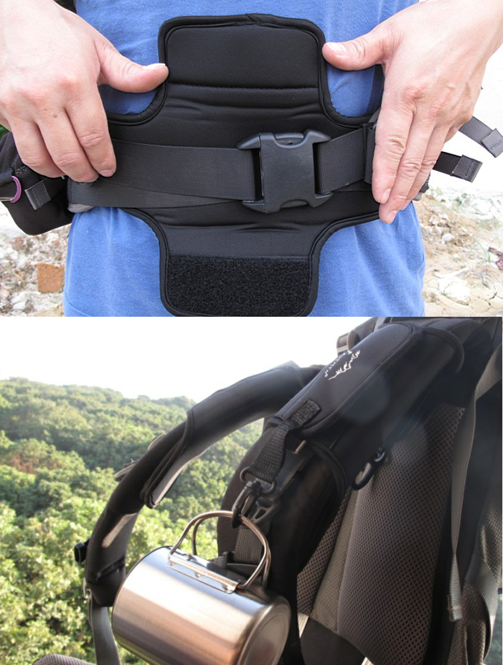 1Pair Shoulder Strap Belt Cushion Pad for Outdoor Travel Camping Hiking Backpacking Damping Climbing Accessory