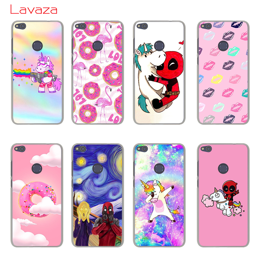 Lavaza DEADPOOL Unicorns Hard Phone Case for Huawei Mate 10 Lite Pro for Honor 6C 7A Pro 8 9 Lite 6A 7X 7C 9i Shell Cover