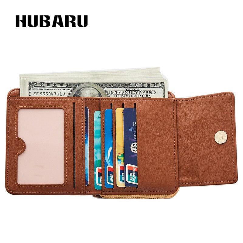 HUBARU New Fashion Kvinnor Korta Plånböcker Magnet Stängning PU - Plånböcker - Foto 5