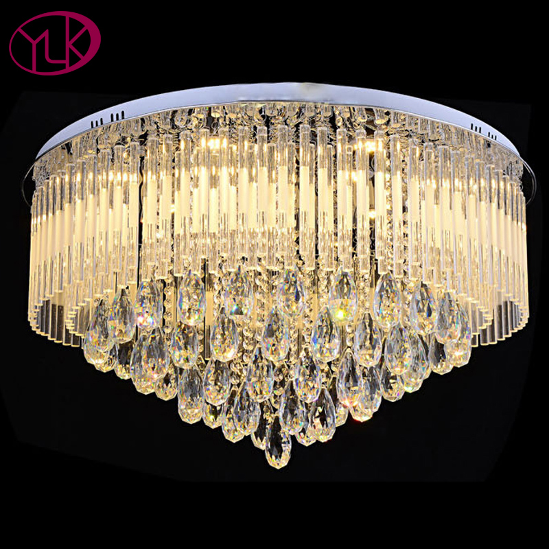 High Quality Crystal Light Chandelier Living Room Bedroom LED Lustres De Crisal Lamp Home Decor Lighting Fixture For Ceiling top quality single ring crystal home lighting modern led crystal chandelier light fixture living room lustres de cristal lamp