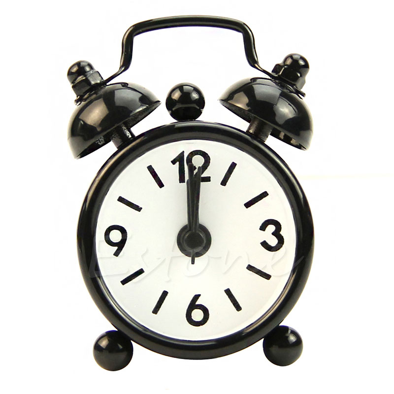 Popular Dial Number Round Desk Alarm Clock For Children Girl House Decoration