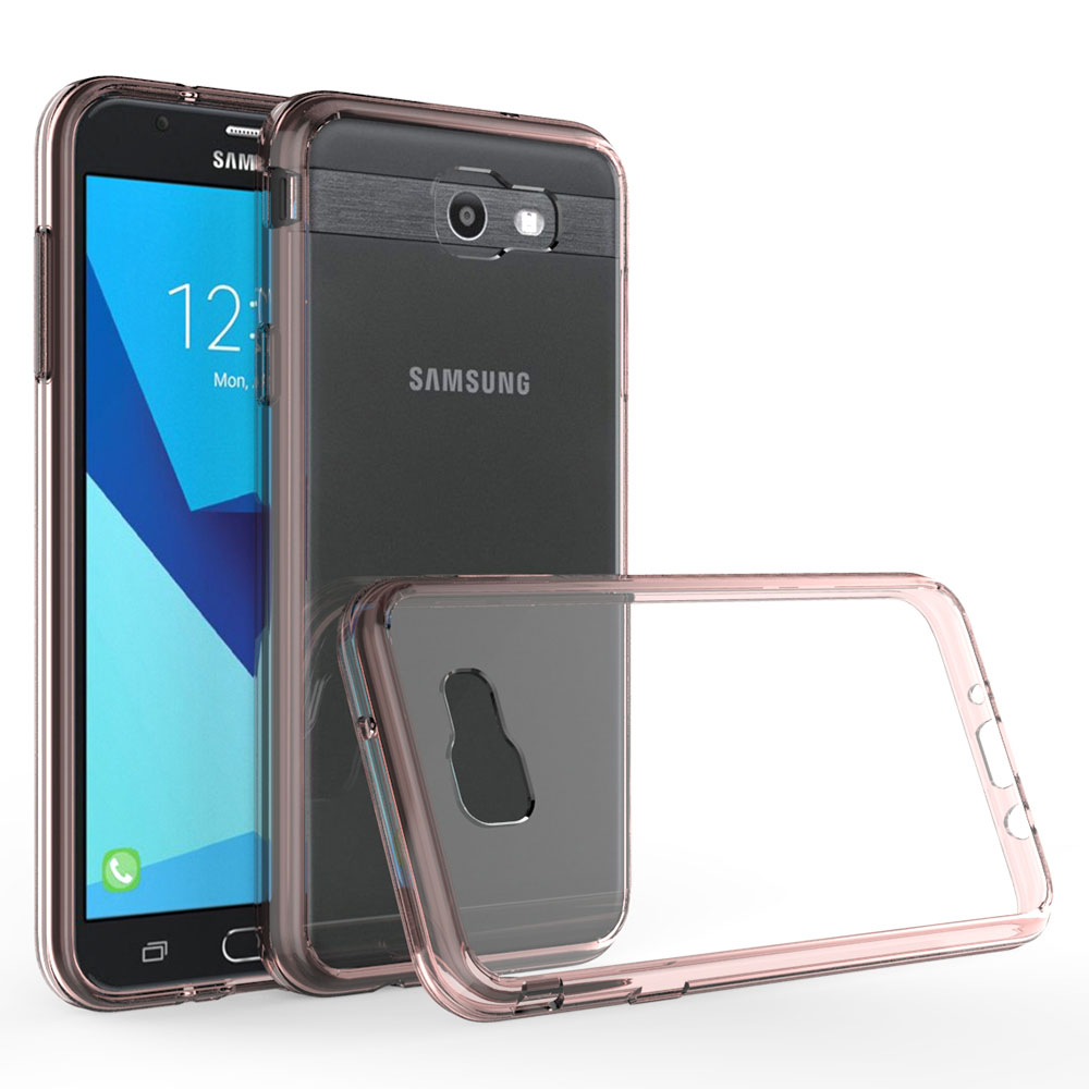 TPU Frame Hard Back Acrylic Case Shockproof Transparent Clear Cover For Samsung Galaxy J7 V 2017/J7 Perx/J7 Sky Pro/J7 2017 @