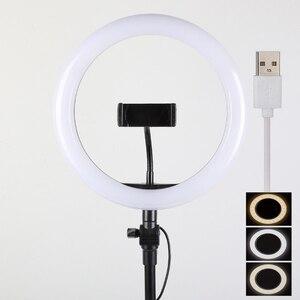 Image 4 - 26 32 34 45 53 センチメートルusb充電器selfieリングライトフラッシュledカメラ電話の写真撮影強化のためのスマートフォンスタジオvk