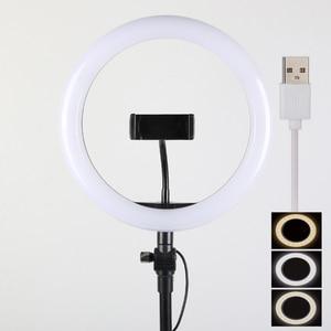 Image 4 - 26 32 34 45 53CM USB charger Selfie Ring Light Flash Led Camera Phone Photography Enhancing Photography for Smartphone Studio VK