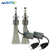 2 шт. AUXITO Canbus фар автомобиля лампа H4 H7 H11 H8 H9 9005 HB3 9006 HB4 9012 HIR2 светодиодный 96 вт 10800LM Высокая ближнего света Противотуманные лампы