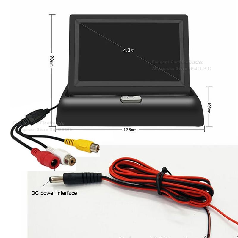 Fongent Neue Faltbare Digital TFT LCD Bildschirm Auto Monitor Für Auto Rückansicht Rückfahr Kamera Oder DVD Unterstützung NTSC/ PAL 4,3/5 zoll