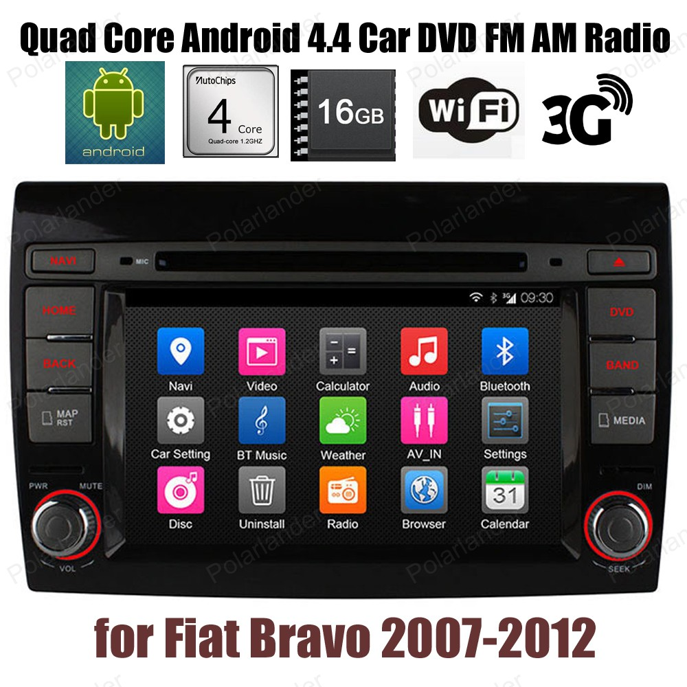 Android4 4 16G ROM Car DVD Quad Core Support DTV BT 3G WiFi GPS DAB font