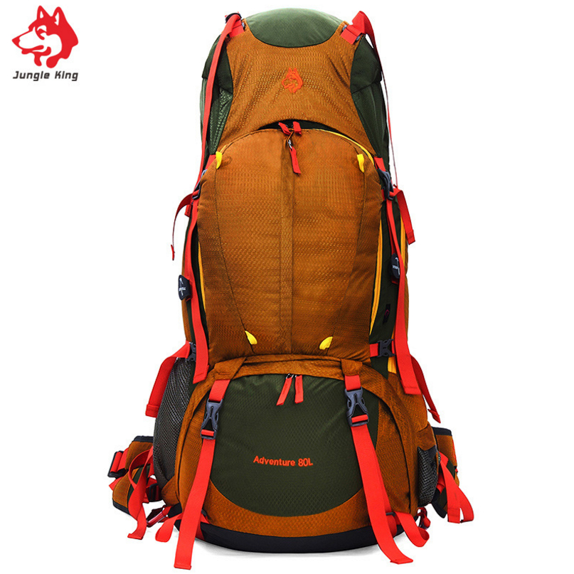 Jungle King 2018 Outdoor Professional Mountaineering Bag 80L Backpack Large Capacity Sports Camping Hiking Climbing Backpack цена