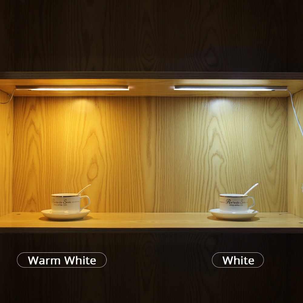 50cm 12v Diy Led Kitchen Cabinet Light Smart Hand Sweep Wave Pir Motion Sensor On Off Switch Rigid Bar Light Cupboard Decor