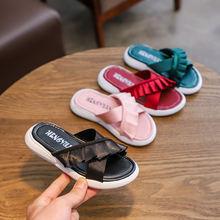 Afdswg обувь летняя для девочек pu пляжные тапки детские розовый
