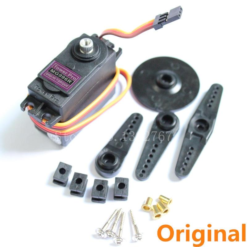 Originale towerpro mg996r digital servo high torque metal ball bearing 55g per jr rc elicottero rc auto rc aereo rc Aereo