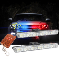 Best Waterproof DC 12V Wireless Remote 6LED Ambulance Police Light Controll Flasher Car Strobe Warning Emergency
