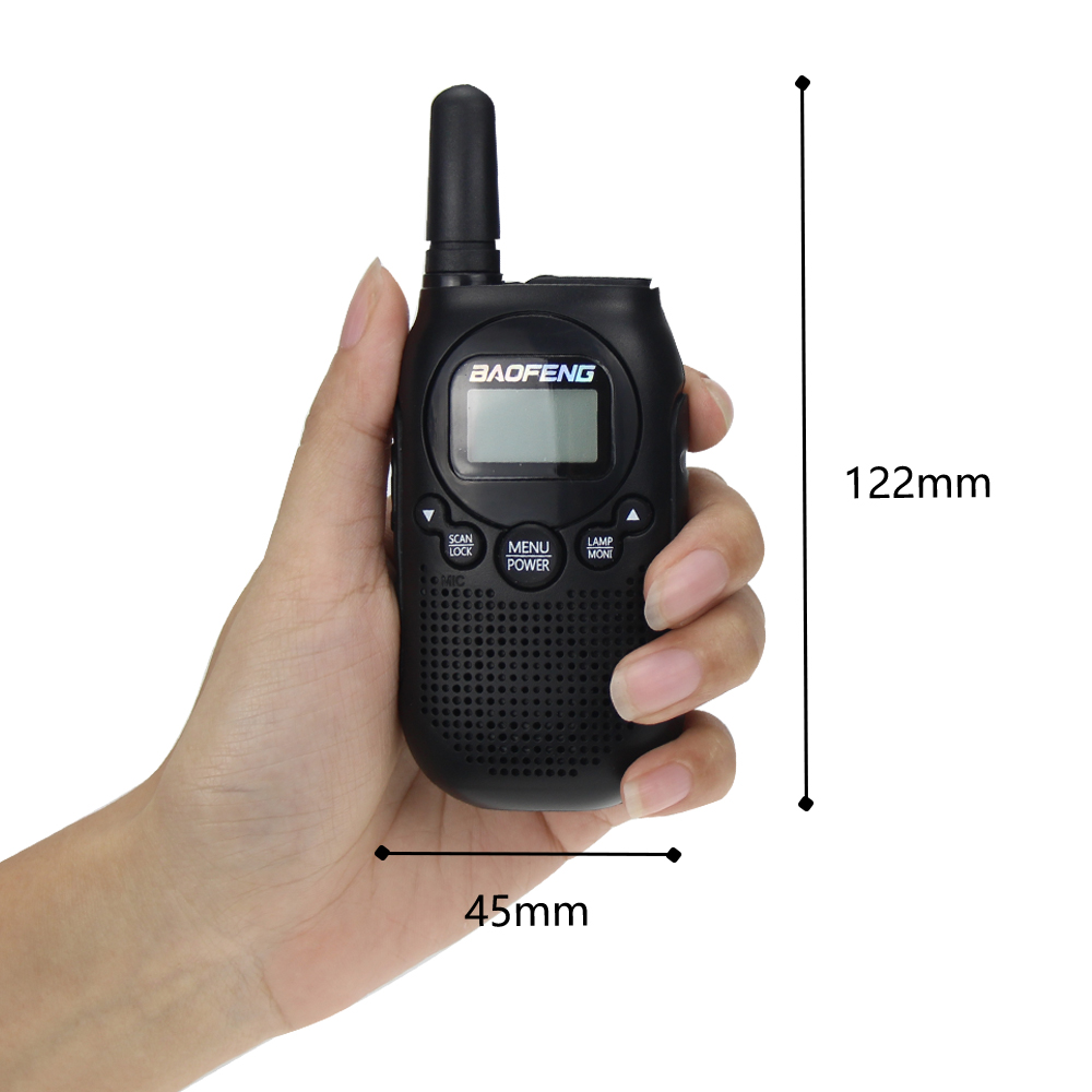 Image 3 - Baofeng BF T6 Kids Walkie Talkie Mini Portable Two Way Radio 0.5W FRS PMR Handheld Interphone Ham Radio Transceiver comunicador-in Walkie Talkie from Cellphones & Telecommunications