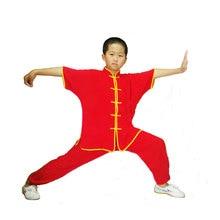 Kid's Breathable 100% Cotton Wushu Uniform