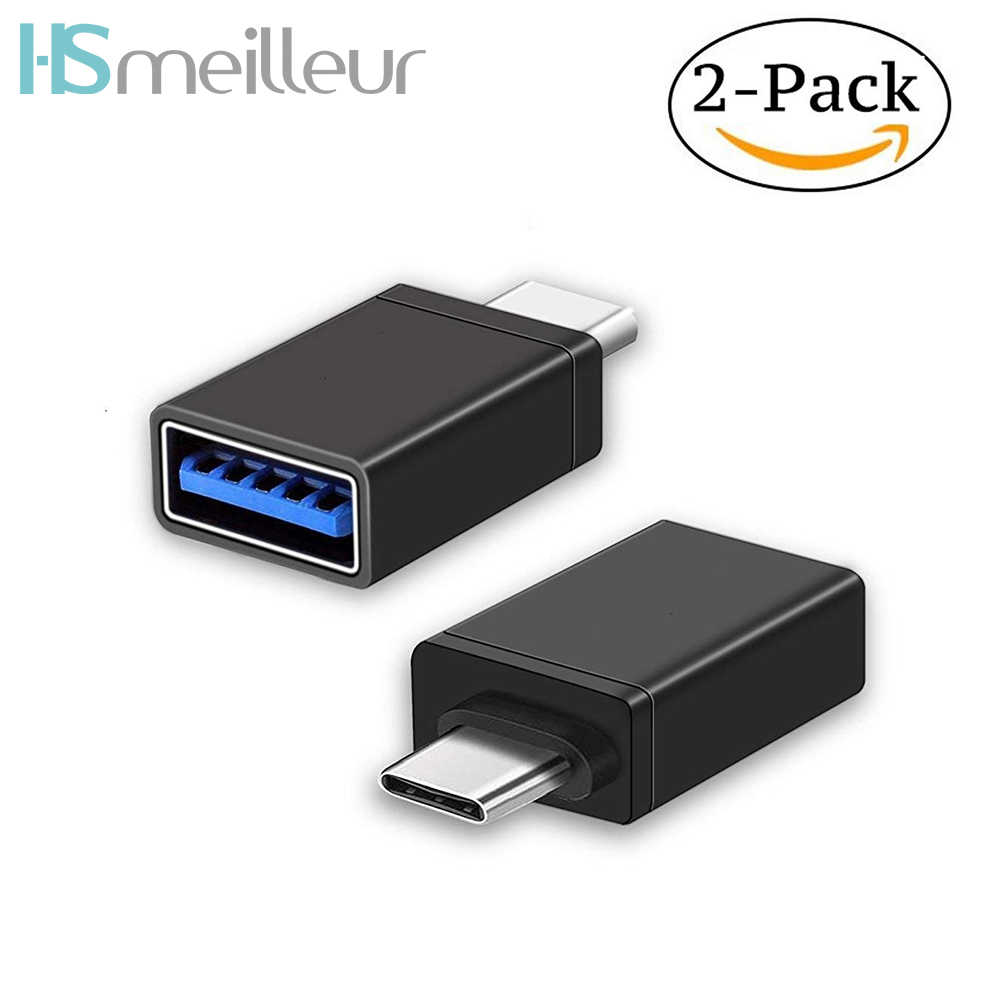 2PCS Hsmeilleur USB C Type-C OTG Adapter Connector For Samsung Galaxy Note  9 8 S8 Oneplus 6 5 Macbook USB 3 0 Type C OTG Adaptor