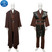 Manluyunxiao Звездные войны Косплэй Костюм Рыцаря Анакин Скайуокер Косплэй костюм Для мужчин полный комплект индивидуальный заказ Бесплатная до