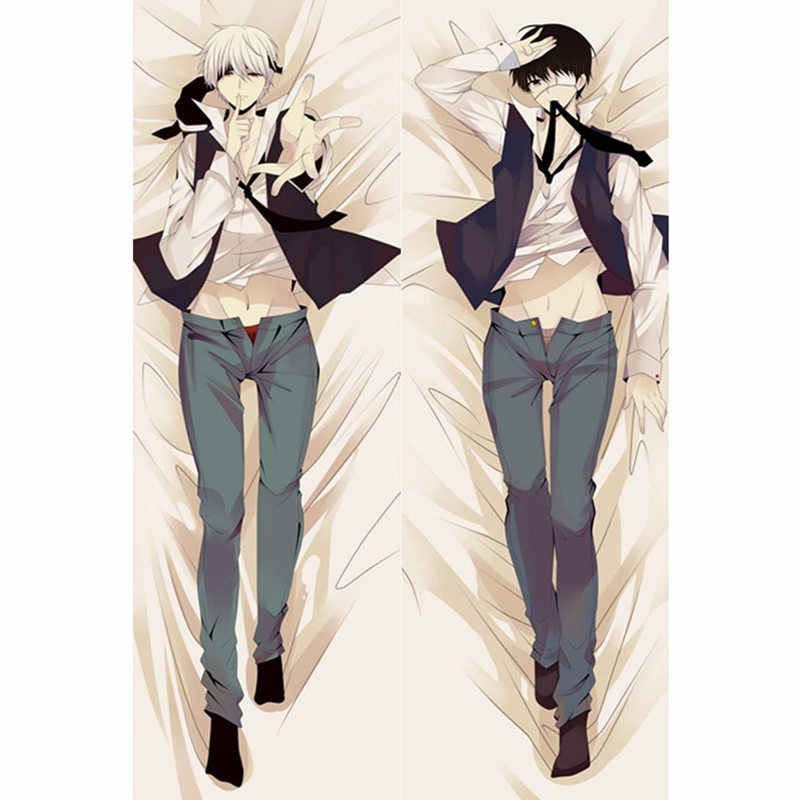 Anime Tokyo Ghoul pillow Covers kaneki ken Mask Touka Dakimakura case sexy girl 3D Double-sided Bedding Hugging Body pillowcase