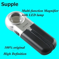 Supple Original Brightness Can Be Adjusted Can Be Folded Handheld Multi Function Magnifier With LED Lamp