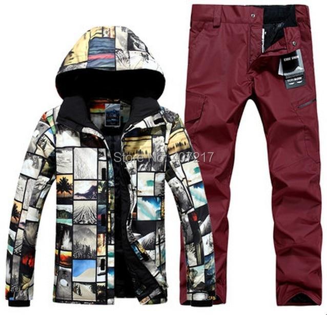 2017 New font b mens b font top quality ski suit font b men s b