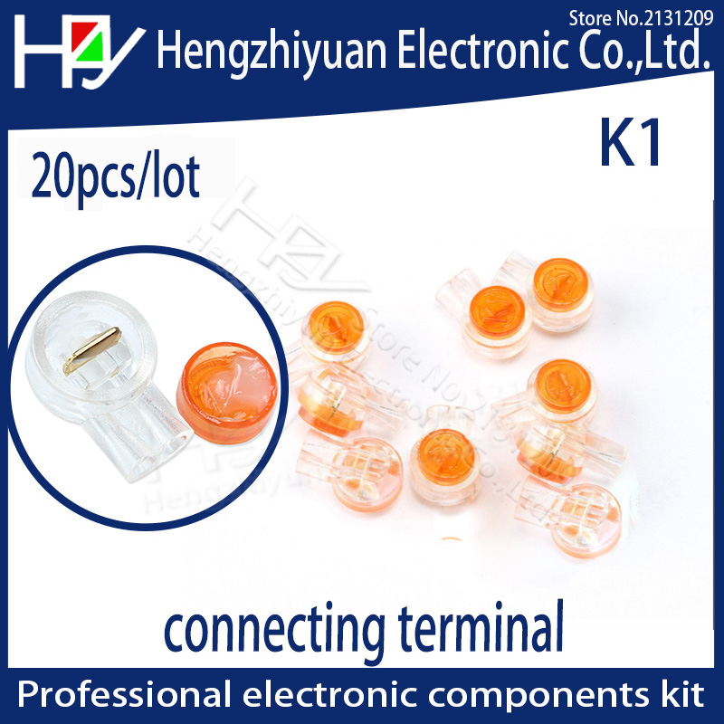Hzy 20pcs/lot K1 Connector Crimp Connector Waterproof Wiring Ethernet Cable Telephone Cord Terminals Rj45 Connection Terminals
